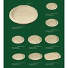 100% biodegradable disposable paper(wheat straw) plate tableware