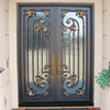 SEN-D007 Made In China Square Top Iron Door