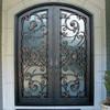 SEN-D008 Made In China Eyebrow Top Iron Double Door
