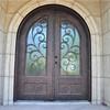 SEN-D009 Round Top Wrought Iron Front Door