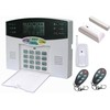 WIRELESS HOME SECURITY SYSTEM HOUSE ALARM 32wireless & 8wired LCD display PSTN voice guide alarm with PIR+remote+door contact