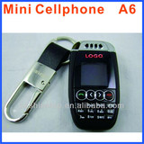 GSM A7 car keychain Phone mini size key chart car key cell phone very small phone