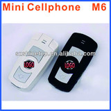 GSM M6 car keychain Phone mini size key chart car key cell phone very small phone