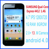 "Newman N2 Russian smartphone Exynos 4412 1.4GHz 1G RAM 8G ROM android 4.0 GPS WIFI 4.7""IPS Screen Gorilla glass made in china"