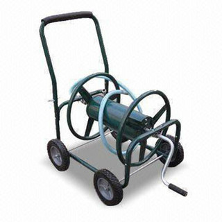 Hose Reel Cart with Durable Powder-coated Finish