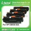 Compatible color printer toners cartridge for HP CC530A-CC533A