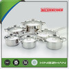 Xingzhan 12pcs Stainless Steel Cookware/Cookware Set