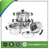 8pcs 410# Stainless Steel Cookware Set