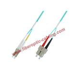 SC to LC OM3 Duplex Fiber Patch Cord, OM3 Duplex Fiber Cable