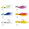 High quality Bucktail jigs CFF002 25g 1oz 6 color China wholesale Fishing lures Flipping Jigs,Bass Jig,Walleye Jig Bass