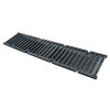 Slotted ductile iron trench drain grate