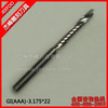 3.175*22 AAA Series One Flute Engraving Tool Bits/Spiral Drill Bits/End Milling Cutter/Tungsten Cutting Tools