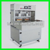 Pneumatic sealing machine for li ion pouch cell top-side package