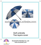 good quality arc 60 inches double canopy golf umbrella