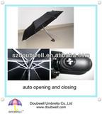 3 foldable automatic open and close umbrella