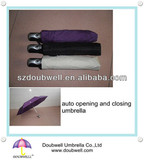 3 section shaft auto open and close umbrella