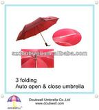 good quality 3 folding auto open and close umbrella