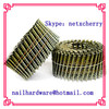 Wire weld wooden pallet coil nail