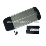 48V10AH LITHIUM ION ALLOY 03-CASE EBIKE BATTERY WITH A CARRIER RACK