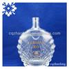 1000ml Large Capacity Transparent OEM XO Brandy Cognac Vodka Wine Glass liquor Bottles With Gold Decals Labels 1500ml 2000ml