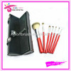 2013 New arrival 7 pcs hot case with mirror Cosmetic travel brush set/kit