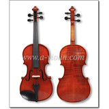 Universal Violin Fiddle with Case, Flamed Conservatory Violin Outfit (VM125)