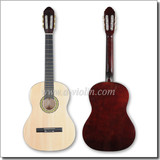 """39"""" Solid Wood Fingerboard Linden Plywood Classical Guitar Handmade (AC851F)"""
