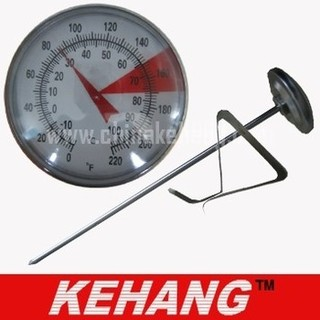 Dial coffee thermometer with a clip