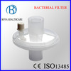 Disposable Bacterial Filter with Port for Breathing Machine