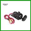 Black 5V 2.1A USB Phone 12V~24V Motorcycle Handlebar Clamp Charger Power Port Socket Set,waterproof