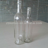 375ml and 500ml clear wine glass bottle