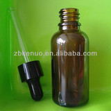 30ml amber essential oil bottles with black dropper