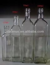 500ml clear glass olive oil bottle