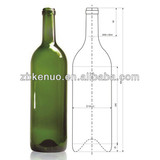 3000ml glass wine bottle /large wine bottle