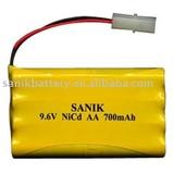 2012 NI CD AA 700mAh 9.6V R/C toy battery