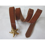Womens'Leather Belt With Starfish buckle