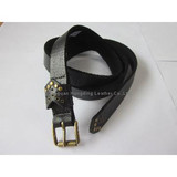 Womens' Leather Belts with Rivets/Perf Pattern