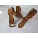 Womens'Genuine Leather Belts with studs