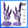 Dolphin Handle Purple Ceramic Knife Set