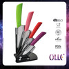 Colorful ABS Handle Ceramic Knife Set