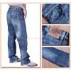 men 100%cotton  3D crinckle whisker  jeans more health &comfy