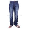 men 100%cotton  3D crinckle whisker blue  jeans