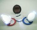 Dual sided oval shaped LED makeup mirror with 5pcs led lights