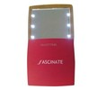 Square 6 led light up cosmetic mirror with slide cover