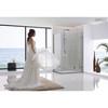 Stainless steel rectangle frameless shower enclosure