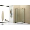 Polished three panels hinge diamond shower enclosure