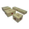Yellowish White Jewelry Box with Printed Logo