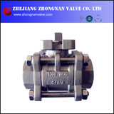 3 PC Stainless Steel with ISO Mounting Pad 1000WOG BALL VALVE