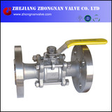 3 PC Stainless Steel Flanged Ball Valve