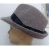 Angora Jazz Hat With A Bow